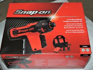 Snap On Cts761a 14 4v 1 4 Hex Microlithium Cordless Screwdriver Kit