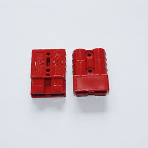 Pair Battery Quick Disconnect 50a 8awg Winch Trailer Plug Connect Connector Red
