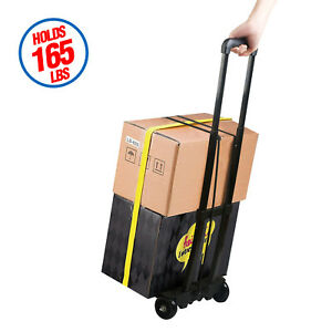 200lbs Cart Folding Truck Aluminium Portable Dolly Push Hand Collapsible Trolley