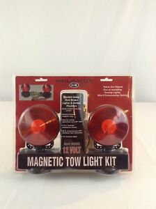 New Haul Master 96933 12 Volt Magnetic Tow Light Vehicle Kit Towing Double Sided