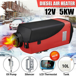 Vehicle Diesel Air Heater Fuel 12v 5kw Parking Lcd Switch For Truck Boat Car