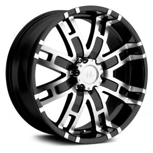 Helo He835 Wheels 17x8 0 8x165 1 125 5 Black Rims Set Of 4