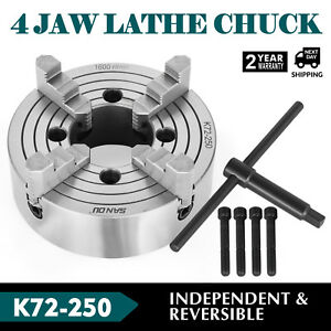K72 250 10 4 Jaw Lathe Chuck Independent 10 Inch Milling Machine Cast Iron