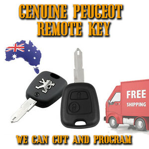 Peugeot 206 Genuine 2 Button Remote Key New We Can Cut Program Free Post