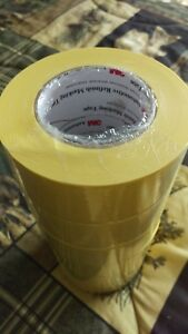 3m 06656 Crepe Paper Automotive Refinish Masking Tape 2 Inch 6 Pack Yellow