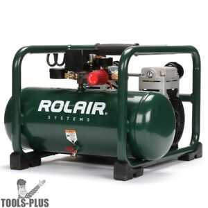 Rolair Jc20 2hp 3 Gal Super Quiet 70db Oil less Direct Drive Air Compressor New