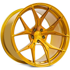 20 Rohana Wheels Rfx5 Gloss Gold Rims Fs