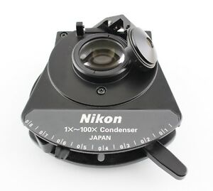 Nikon Swing Flip Top Microscope Condenser 1x 100x Eclipse