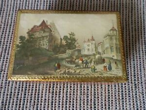 Hand Made Florentia Wooden Trinket Box Made In Italy Nice Piece