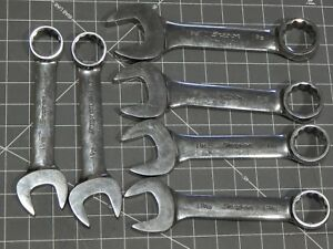 Snap On Large Sae Short Combination Wrench 6pc Add On Set 1 1 16 1 3 8 12pt