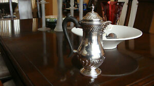 Antique London George Iii Sterling Silver Coffee Pot By Matthew Linwood C 1771