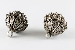 Antique Vintage Austria Hungary Sterling Silver Buttons Pre 1900