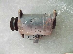 Massey Harris 22 20 81 Tractor Working 6v Generator Good Belt Drive Pulley