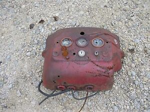 Massey Harris 33 Tractor Original Mh Dash With Key Switch Gauges
