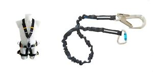 Full Body Harness Fall Protection And Lanyard