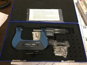 New Fowler 52 219 091 0 Thread Micrometer 1 2