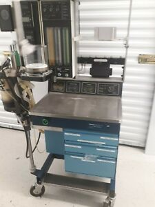 Ohmeda Anesthesia Gas Machine Modulus Ii Plus With Accessories
