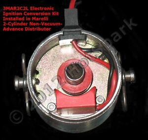 Electronic Ignition Conversion Kit For 2 cylinder Marelli Distributors Fiat 500