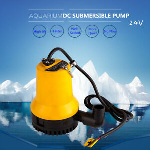 24v 4500l h Submersible Water Pump Electric Clean Drain Dirty Pool Pond Flood 1