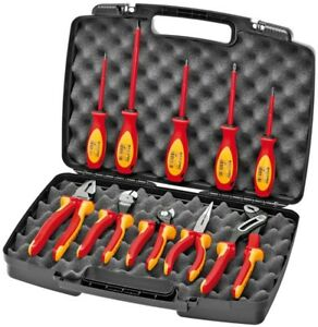 10 Piece Set Industrial Tools 1000v Insulated Pliers Cutters And Screwdriver