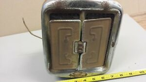 Vintage Weed Chrome Heater Box 1930s Chevy Dash Rat Rod Ford Buick Cadillac Cord