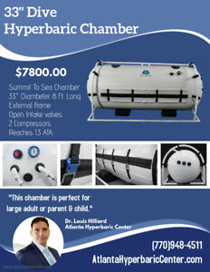 33 Decompression Oxygen Exclusive Incredibly Bright Interior Hyperbaric Chamber