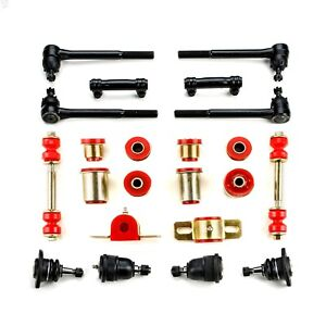 Red Poly Front End Suspension Rebuild Kit Fits 1971 1972 Chevrolet Monte Carlo