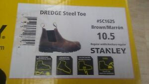 Stanley Dredge Men s Size 10 5 Brown Leather Steel Toe Work Boot