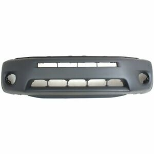 Front Bumper Cover For 2004 2005 Toyota Rav4 W Fender Flare Hole Primed Plastic