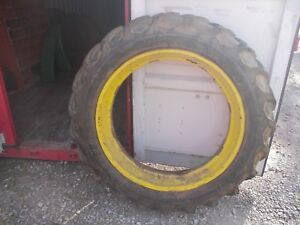 Firestone Champion Ground Grip Tire 12 4x 38 Jd A B G Rim Ih M H Sm Mta Tractor