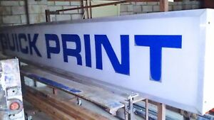 Flush Mount Sign Frame 14 8 X 2 Includes One New White Blank Sign Panel