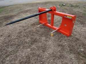 Kubota Kioti Tractor Loader 48 Hay Bale Spear Fork Attachment Ship 149