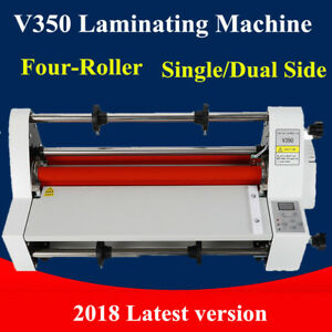 Laminator 13 V350 Laminating Machine Four roller Cold Hot Single dual Side 110v