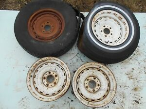 Set 4 73 87 Chevrolet Gmc Truck Suburban Van 15x7 5 Lug Rally Wheels Silverado