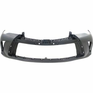 Front Bumper Cover For 2015 2017 Toyota Camry Primed Plastic Capa