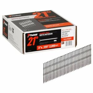 Paslode 212062 Brite Smooth Shank Plastic Collated Framing Nails 2000 box
