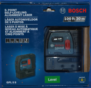 Bosch Gpl 5 S 5 Point Self Leveling Alignment Laser 100 Ft 30 M