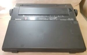 Brother Ax 22 Portable Electronic Typewriter W cover And Black Ribbon Tested