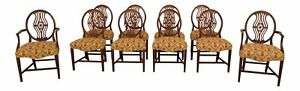 Lf30545ec Set Of 10 Vintage Federal Style Mahogany Dining Room Chairs