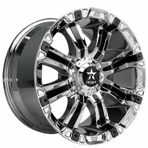 4rims 18x10 Rbp Wheels 94r Chrome With Black Inserts Off Road Rims