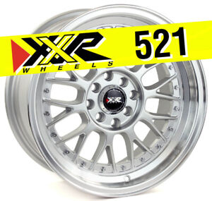 Xxr 521 16x8 5x100 5x114 3 20 Hyper Silver Wheels Set Of 4