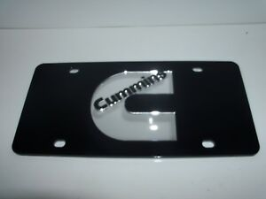 Cummins License Plate Colors Black silver Brand New