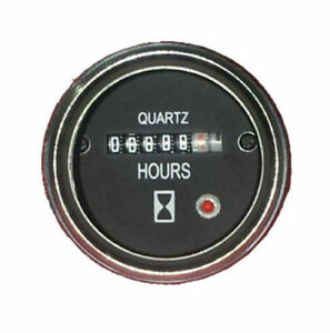 Hour Meter 6 To 80 Volts Dc High Accuracy Round Silvery Trim Ring