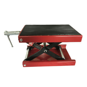 1100 Lbs Scissor Lift Jack Atv Motorcycle Bike Scooter Crank Stand Lift Tool
