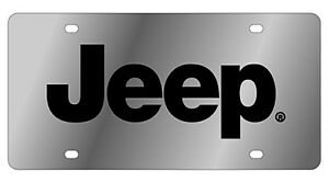 New Jeep Black Logo Stainless Steel License Plate