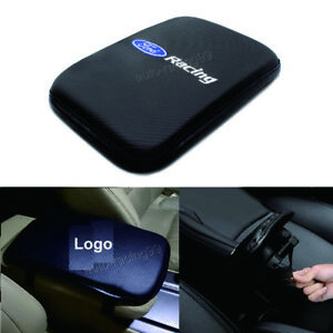 1x Ford Carbon Fiber Car Armrest Cover Center Console Cushion Pad Mat Accessory