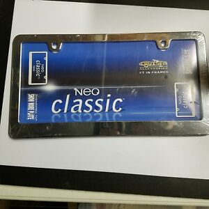 Neo Classic Plain Chrome Metal License Plate Tag Frame For Auto Car Truck