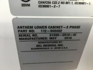 Del Medical Anthem High Frequency Apr X ray Generator New 2018