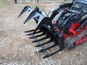 Toro Dingo Mini Skid Steer Attachment 48 Root Rake Grapple Bucket Ship 149