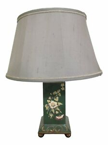 F46751ec Wildwood Toleware Paint Decorated Table Lamp W Shade